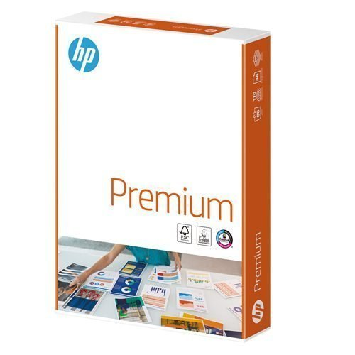 HP Premium Paper A4 90gsm White (5x500) Box | Multifunction paper for laser and inkjet printers | Fusion Office