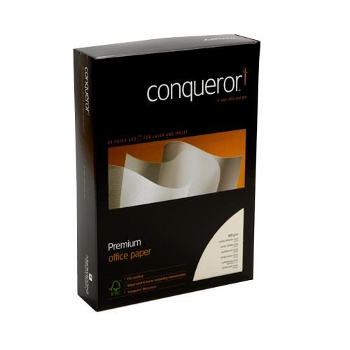 Conqueror CX22 Cream Paper A4 100gsm [500 Sheets] | Ultra-smooth and lustrous | Watermarked | Fusion Office UK