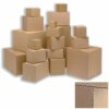 12x9x9 Single Wall Cardboard Boxes [Pack 25] 305x229x229mm | Single Layer Corrugated Fluting | Lightweight items | Fusion Office