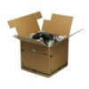 Bankers Box SmoothMove Removal Box 85L 6205301 [Pack 5] | No tape required, lids lock into place for secure closure | Fusion Office UK