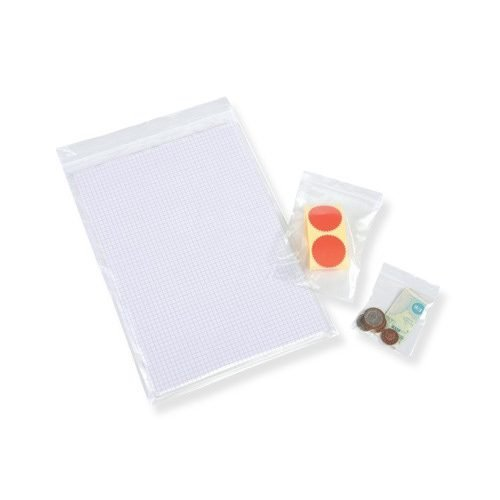 Grip Seal GL03 Polythene Bags Resealable Plain 75x85mm 3x3.25 [Pack 1000] | Fusion Office