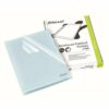 Rexel Cut Flush Folders Clear A4 12215 [Pack 100] | Premium quality polypropylene | opens on two sides for easy access | Fusion Office UK