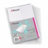 Rexel Nyrex Single Wallet Vertical Pocket A4 Clear 12181 [Pack 25] | Single full length pocket on the inside back cover | Fusion Office UK