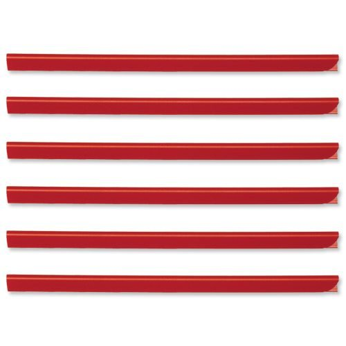 Durable Spine Bars 6mm Red A4 Slide Binders 293103 [Pack 50] | A versatile binding system for un-punched papers | Fusion Office UK