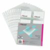 Rexel Nyrex Business Card Pockets Punched A4 Clear 13681 [Pack 10]   Manufactured from premium weight polypropylene   Fusion Office UK
