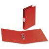Ring Binders A4 Red Polyprop Covered [Pack 10]   Quality 2 O-Ring 25mm   Fusion Office