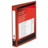 Presentation Ring Binders 25mm Red 4 Ring A4 [Pack 10] | Heavyweight Polypropylene covering for durability | Fusion Office