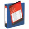 Presentation Binders 65mm 4-Ring Blue A4 [Pack 10] | Heavyweight Polypropylene covering for durability | Fusion Office