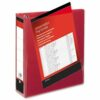 Presentation Binders 65mm 4-Ring Red A4 [Pack 10] | Heavyweight Polypropylene covering for durability | Fusion Office