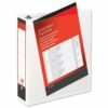 Presentation Binders 65mm 4-Ring White A4 [Pack 10]   Heavyweight Polypropylene covering for durability   Fusion Office