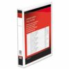 Presentation Ring Binders 38mm White 2 Ring A4 [Pack 10] | Heavyweight Polypropylene covering for durability | Fusion Office