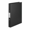 Rexel Budget Ring Binders Black A4 13422BK [Pack 10]   Binders are made from semi-rigid, tear-resistant polypropylene   Fusion Office UK