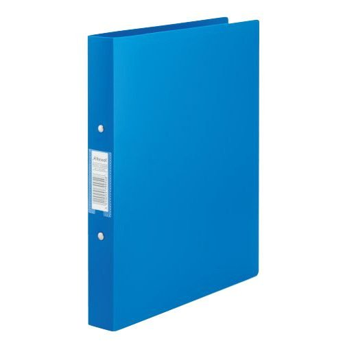 Rexel Budget Ring Binders Blue A4 13422BU [Pack 10]   Binders are made from semi-rigid, tear-resistant polypropylene   Fusion Office UK
