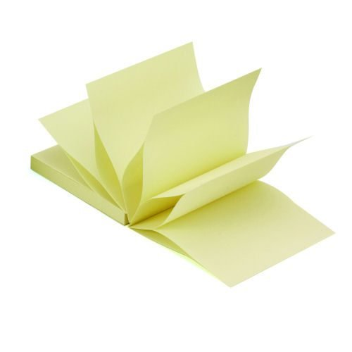 Sticky Concertina Fanfold Notes 3x3 Yellow 100 Sheets [Pack 12] | Use with a concertina note dispenser | Fusion Office