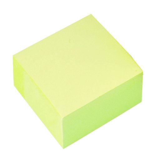 Sticky Notes Cube Yellow | Note cube perfect for short messages and notes | Ideal for desktop use | Fusion Office
