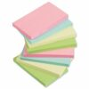 Sticky Notes 3x5 Pastel 100 Sheets [Pack 12]   Assorted pastel colours: Yellow, Blue, Pink, Green   Fusion Office