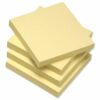 Recycled Sticky Notes 3x3 Yellow 100 Sheets [Pack 12]   Environmental Square Repositional Notes   Fusion Office