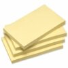 Recycled Sticky Notes 3x5 Yellow 100 Sheets [Pack 12] | Environmental Large Repositional Notes | Fusion Office