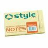 Fusion Style Repositionable Notes 127x76mm Yellow [Pack 12]