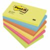 3M 655-TFEN Post-It Colour Energy Colours Notes 76x127mm [Pack 6]   Bright neon colours really get your messages noticed   Fusion Office UK