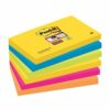 3M 655-6SS-RIO Post-It Super Sticky Rio Colour Notes 76x127 [Pack 6] | Colourful Notes inspired by colourful cities | Fusion Office UK