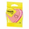 3M Post-it Note Shaped Pad Heart Pink Rainbow 2007H | Made with 60 % renewable resource | Fusion Office