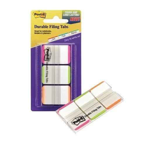 3M 686L-PGO Index Strong Filing Tab Assorted Colours [Pack 66] | Useful for marking, highlighting and indexing information | Fusion Office UK