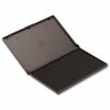 Stamp Pad Black 110x70mm | Reusable pad can be re-inked with washable endorsing ink | Sturdy plastic box | Fusion Office