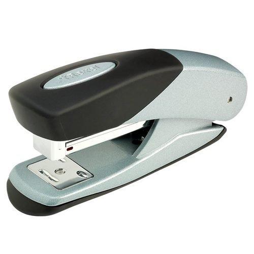 Rexel Matador Stapler Silver/Black 2100003 [25 Sheets] | Strong, metal stapler | Built in staple remover | Top loading | Fusion Office UK