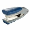 Rexel Centor Stapler Silver/Blue 2100596 [25 Sheets] | Compact & Lightweight | Cushioned finger grips | Stands upright | Fusion Office UK