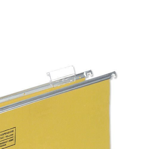 Clear Plastic Tabs for Suspension Files [Pack 50] | Durable plastic construction | Size: 56x30mm | Easy fit tabs | Fusion Office