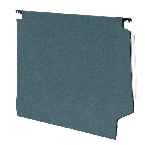 Lateral Suspension Files Green Foolscap [Pack 50]   Complete with tabs and inserts   15mm V-base holds 150 sheets   Fusion Office