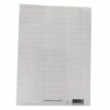 White Card Inserts for Suspension Files Tabs [Pack 56] | Item size: 57x14mm | Tab sheet size: 224x228mm | Fusion Office