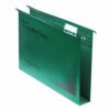 CrystalFile Foolscap Suspension Files Green 30mm Rexel 78041 [Pack 50]   Made using 100% recycled premium manila   Fusion Office UK