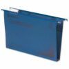 CrystalFile Foolscap Suspension Files Blue 30mm Rexel 70625 [Pack 50] | Made using 100% recycled premium manila | Fusion Office UK