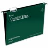 Rexel Crystalfile Extra Suspension Files Foolscap Green 70628 [Pack 25] | Made from tough polypropylene | Tabs & Inserts | Fusion Office UK