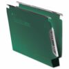 Crystalfile Lateral 330 Files 50mm Green Rexel 70672 [Pack 25]   100% recycled premium manila with contrasting steel bars   Fusion Office UK
