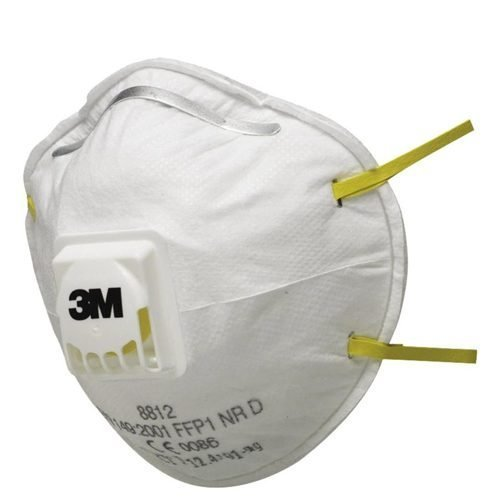 3M 8812 FFP1V Masks Valved [Pack 10] | Provides respiratory protection against low levels of fine dusts and mists | Fusion Office