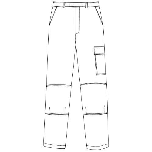 Benchmark T50 White Decorators Trousers Tall