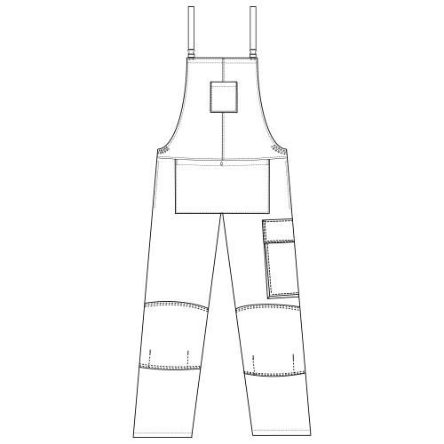Benchmark T51 White Decorators Bib & Braces Tall