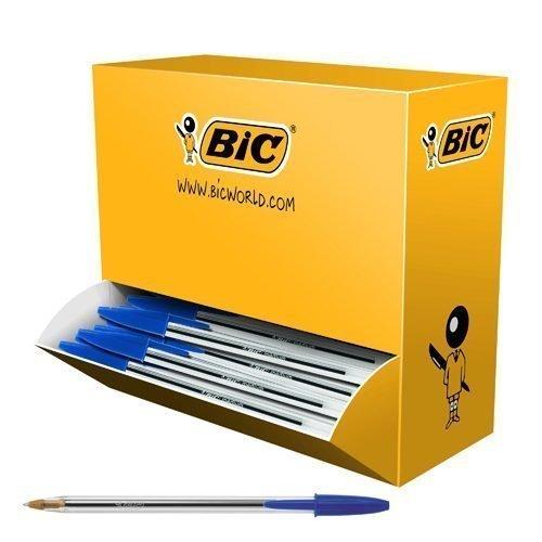 BIC Cristal Medium Blue Ball Pen BULK PACK 896039 [Pack 100]   The classic affordable, high-quality ballpoint pen   Fusion Office UK