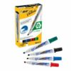 BIC Velleda 1751 Assorted Whiteboard Chisel Markers 904950 [Pack 4] | Its acrylic tip means you can have more control | Fusion Office UK