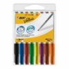 BIC Velleda 1748 Medium Assorted Whiteboard Markers 1199001748 [Pack 8] | Its acrylic tip means you can have more control | Fusion Office UK