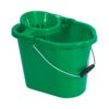 Oval Mop Wringer Bucket 12 Litres Green   Great value blue mop bucket   Ideal for colour coded cleaning   Fusion Office