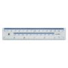 Plastic Ruler 150mm / 15cm / 6 Inches Clear | Made from clear plastic | Metric and imperial markings | Fusion Office