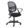 Jota Mesh medium back operators chair with fixed arms Black DAMS VMH11-000-BLK | Sleek Design | Fusion Office