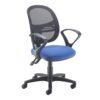 Jota Mesh medium back operators chair with fix/arms Blue DAMS VMH11-000-BLU | Sleek Design | Fusion Office