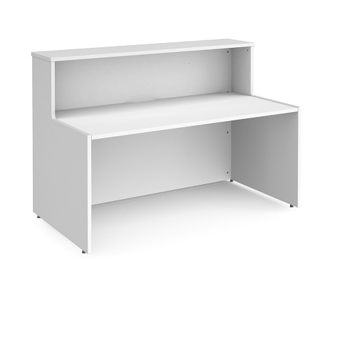 Reception Desk 1662mm White WRD16-WH | Welcome your visitors to your business with style | Fusion Office