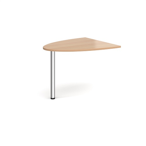 Reception D-End Extension Beech WDET-B   Welcome your visitors to your business with style   Fusion Office