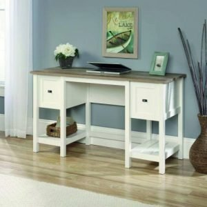 Teknik Office Shaker Style Desk Soft White 5418072